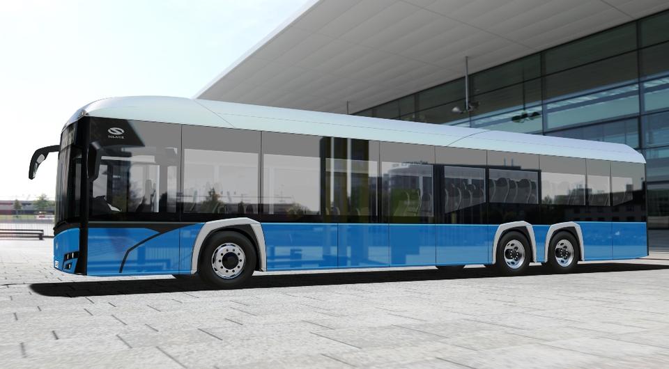 Solaris готовит 15-метровый трехосный электробус