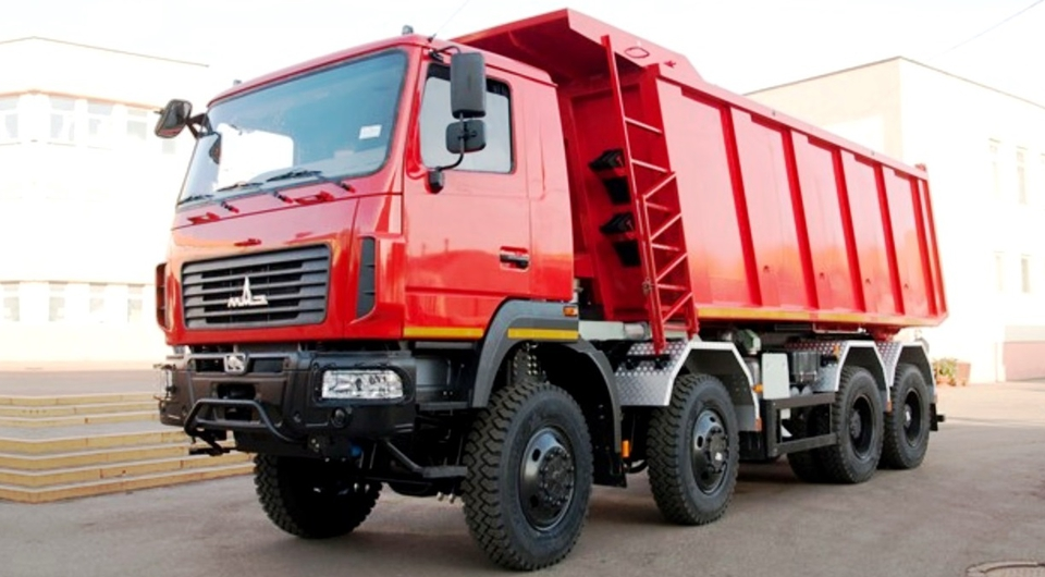 МАЗ-65262L: тяжелый самосвал 8х8