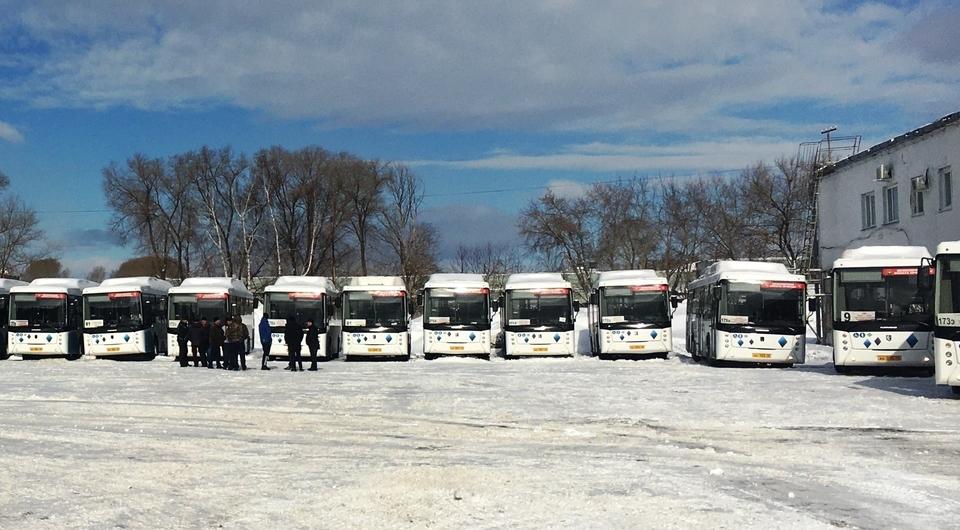 Кузбасс получил газовые автобусы НЕФАЗ