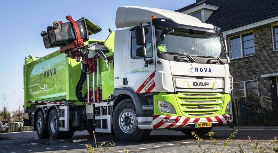 Электрический мусоровоз DAF CF Electric берется за дело