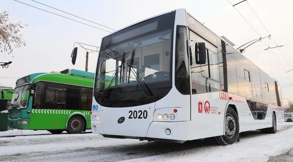 Троллейбус «Транс-Альфа» тестируют в Красноярске