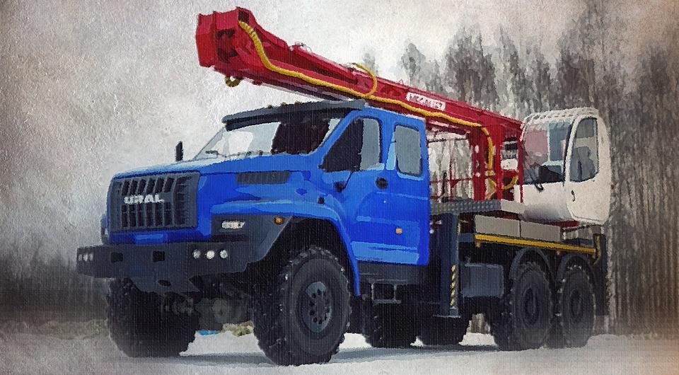 Мегадрайв: необычный подъемник на шасси «Урал NEXT»