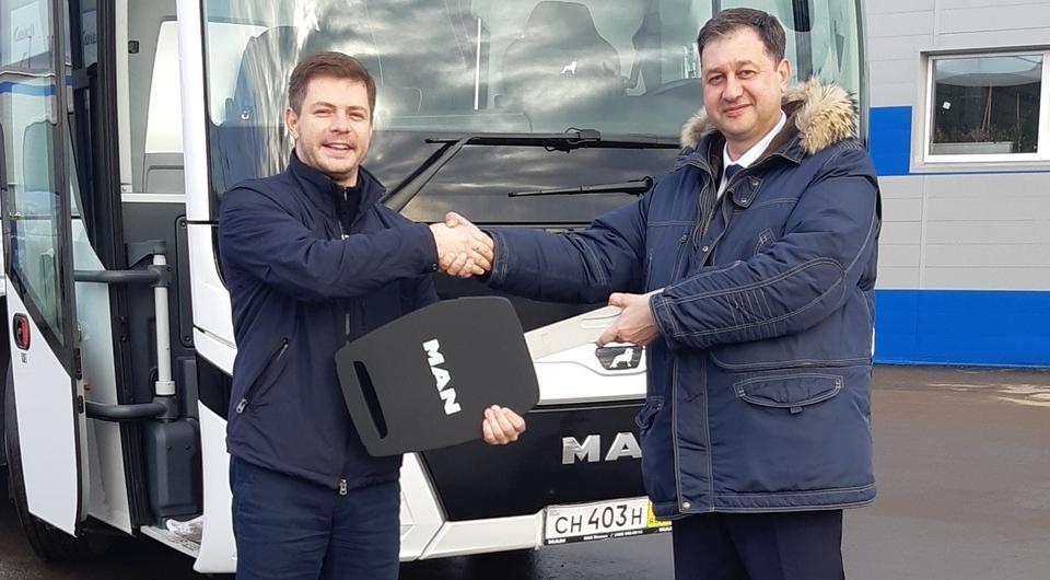 Росатом получил автобус MAN Lion's Coach