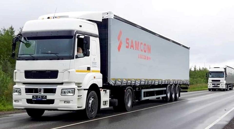 Шторно-бортовые ТОНАРы для компании Samcom