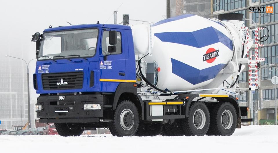 Новый белорусский 8-кубовый бетоносмеситель