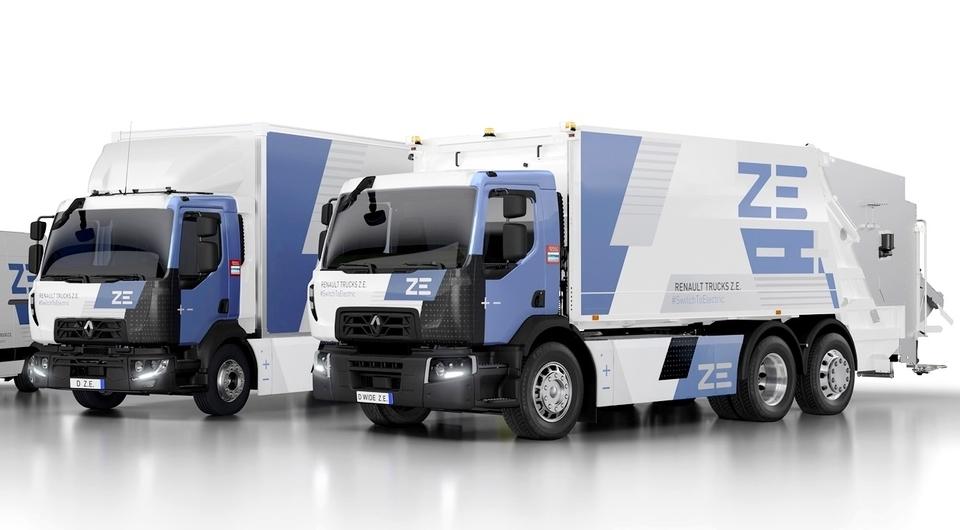 Увеличен запас хода электротраков Renault Trucks