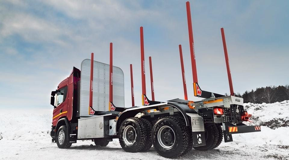 Метановый сортиментовоз Scania приступил к работе