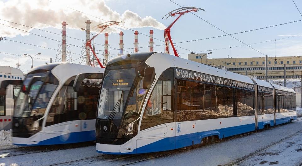 Приступили к работе новые трамваи «Витязь-Москва»