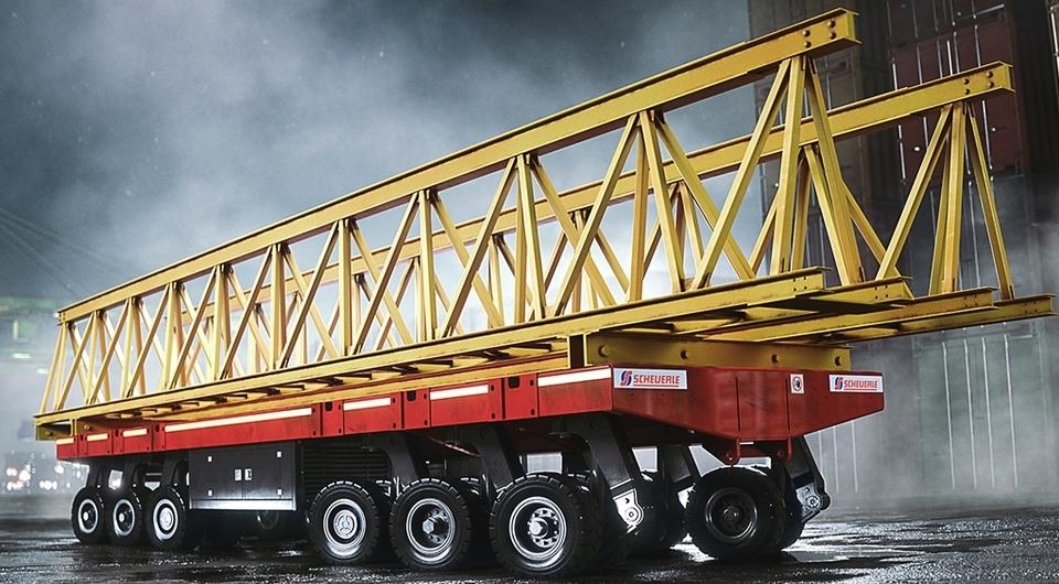SCHEUERLE:  новый сверхтяжелый транспортный модуль