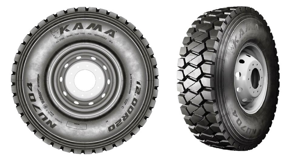 KAMA NU 704: новая внедорожная шина в размере 12.00R20