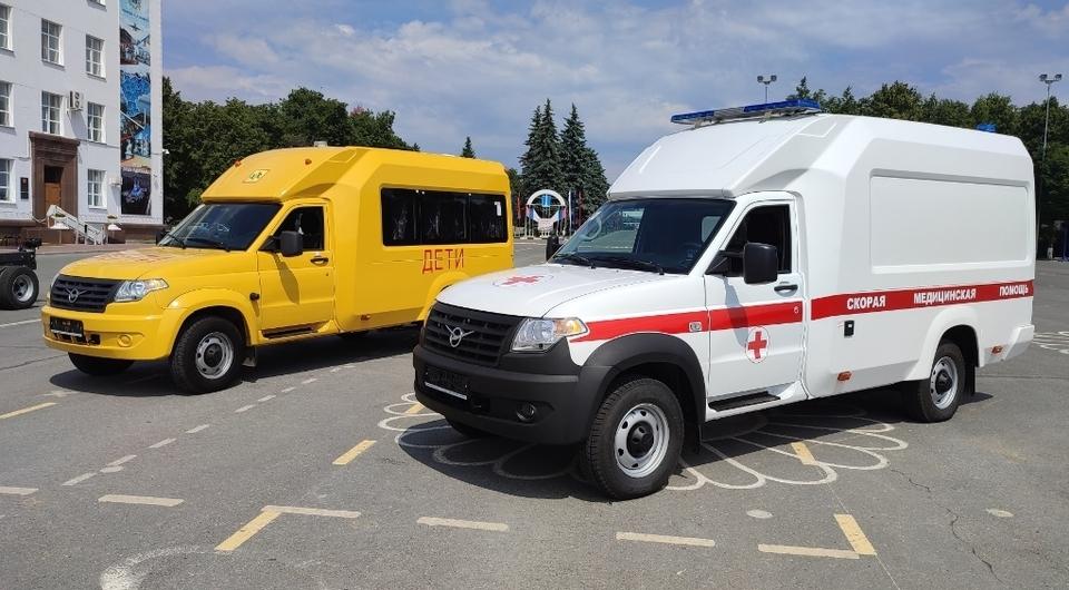 УАЗ поставит скорые помощи и школьные автобусы