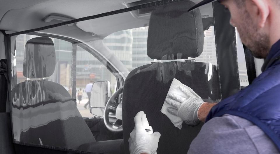 Ford Transit с антивирусным экраном